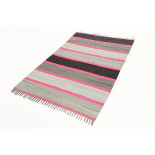 Neon Fleck Grey/Pink/Black Area Rug by Castleton Home