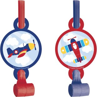 Airplane Plastic/Paper Disposable Party Favor Set