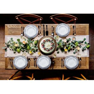 Elizabeth 57 Piece Dinnerware Set, Service for 8