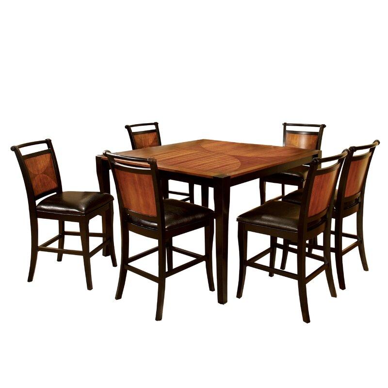 White Cane Outdoor Furniture, Hokku Designs Exquisite 7 Piece Counter Height Dining Set Reviews Wayfair