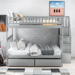 Lyric Full over Full Bunk Bed with Drawers by Harriet Bee