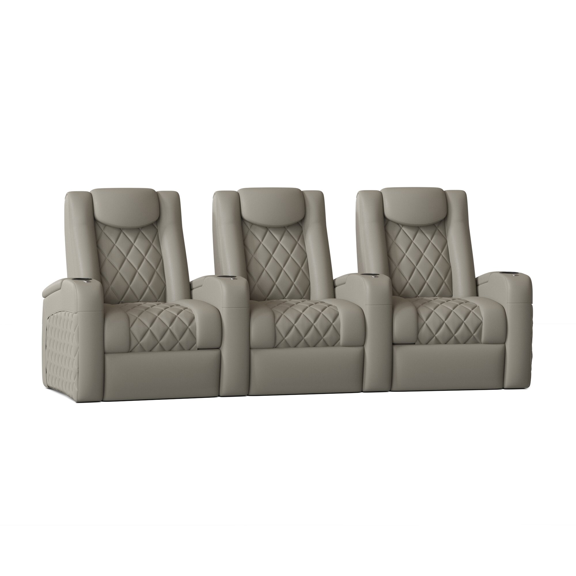 Red Barrel Studio Azure Recliner Home Theater Row Seating Row Of 3 Wayfair