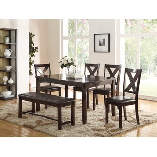 Seten 6 Piece Solid Wood Dining Set by Al..