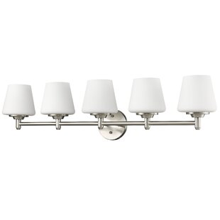 Check Prices Vangundy 5-Light Vanity Light ByWinston Porter