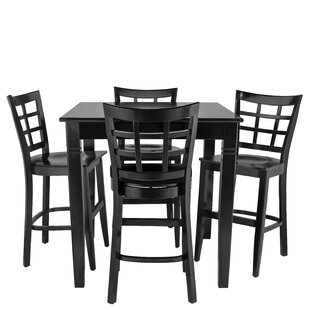 Weinberger 5 Piece Pub Table Set Red Barrel Studio