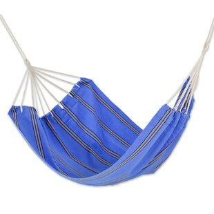 Novica Double Person Fair Trade Portable Happy Beach Days' Hand-Woven Central American Acrylic Indoor And Outdoor Hammock