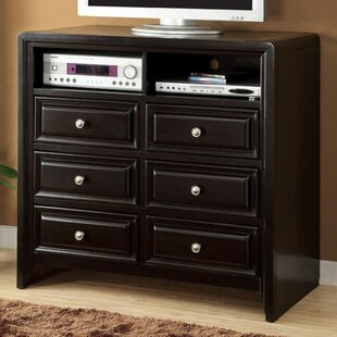 Ballyrashane Transitional Media 6 Drawer Chest