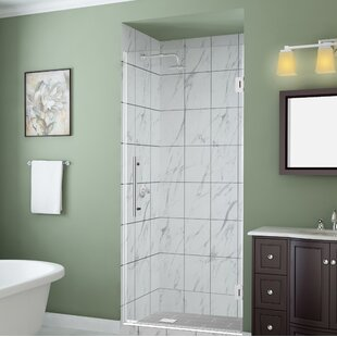 Belmore Gs 55 X 72 Hinged Frameless Frosted Shower Door