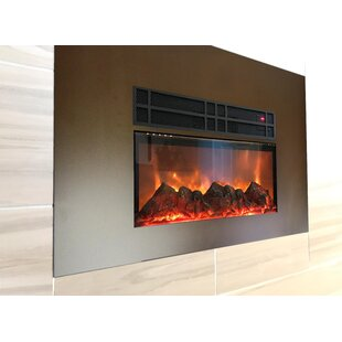 Lipman True Flame Wall Mounted Electric Fireplace Insert By Latitude Run