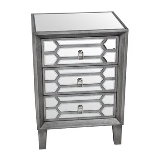 Crowe 3 Drawer Accent Chest by..