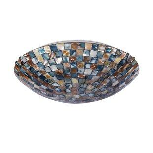 World Menagerie Leighton Mosaic 2-Light Flush Mount