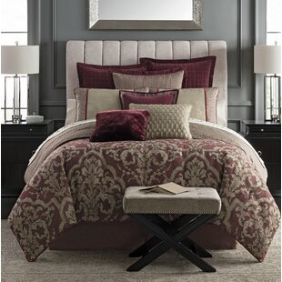 Amarah 4 Piece Reversible Comforter Set by Waterford Bedding