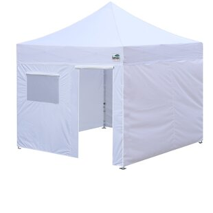 Commercial 10 Ft. W x 10 Ft. D Steel Pop-Up Canopy by Eurmax