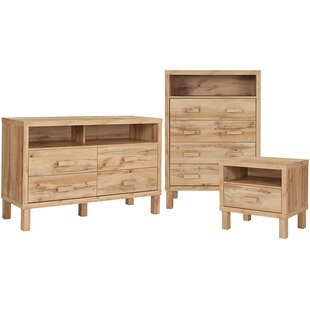 Millwood Pines Manon 3 Piece Dresser and ..