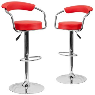 Damian Adjustable Height Swivel Bar Stool (Set Of 2) New Design