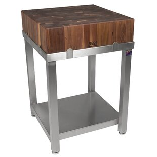 Cucina Americana LaForza Prep Table with Butcher Block