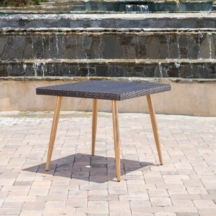 Erich Outdoor Wicker Rectangular Side Table