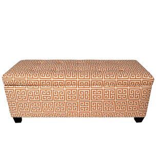 Red Barrel Studio Wainscott 10 Button Upholstered Storage Bench