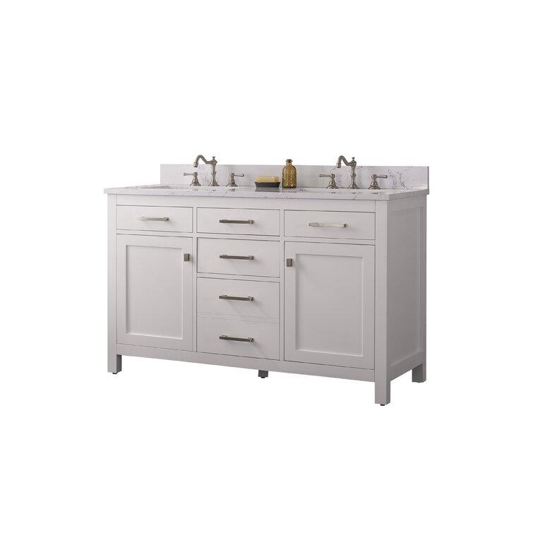 """Atencio 54"""" Double Bathroom Vanity Set"""