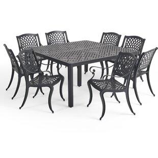 Corner Outdoor 9 Piece Dining Set