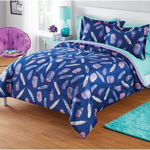 Southerland Inky Feather Comforter Set