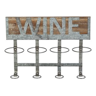 Owes 4 Bottle Wall Mounted Wine Bottle Ra..