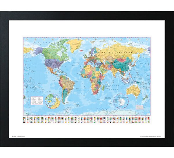 Framed world map wayfair gumiabroncs Image collections