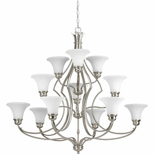 Darby Home Co Rennie 12-Light Shaded Chandelier