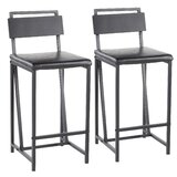 Griggs Industrial 27 Bar Stool (Set of 2) by Williston Forge