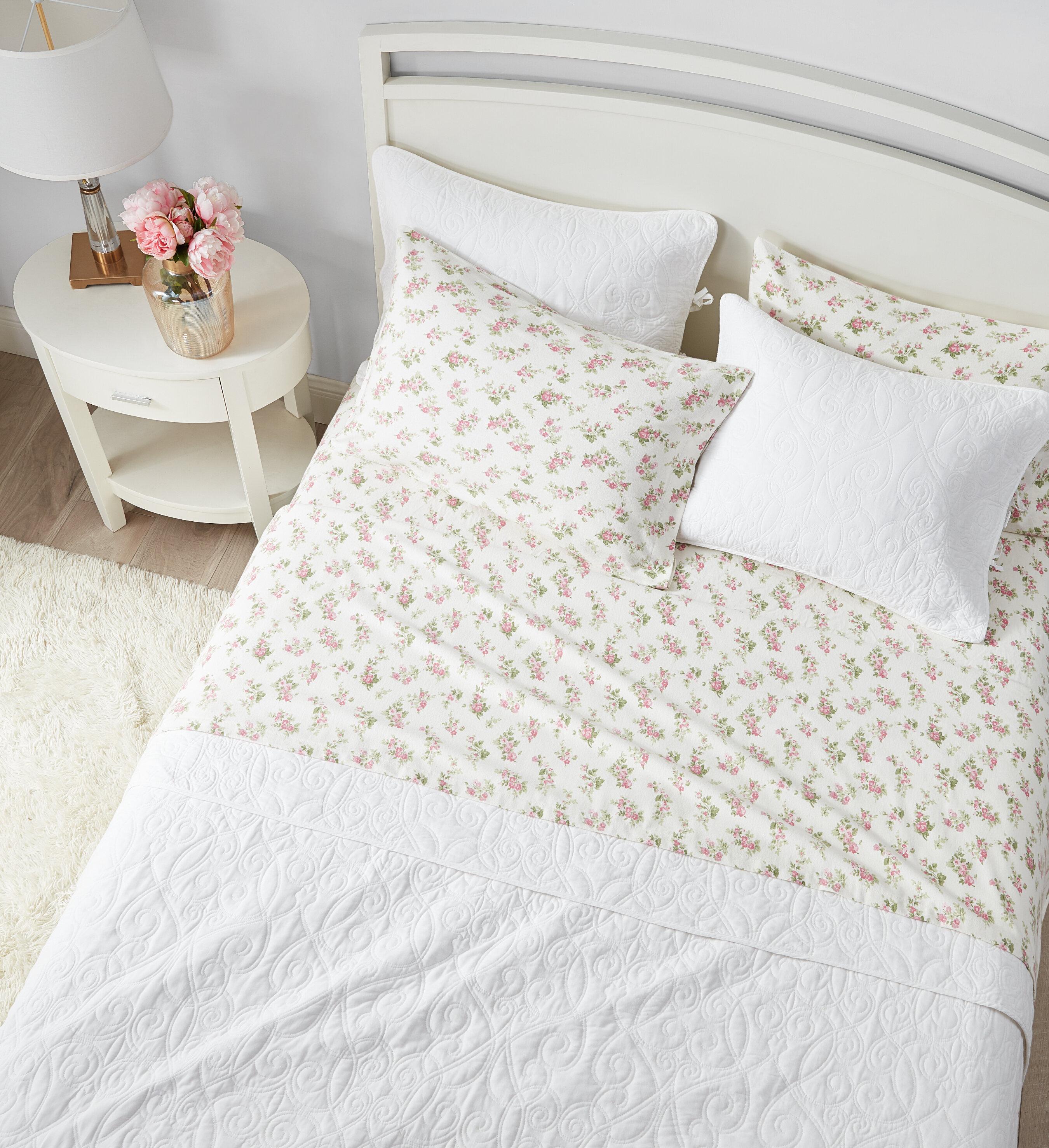 Laura Ashley Audrey Floral Flannel Sheet Set Reviews