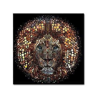 High Quality U0027Paint Dawb Lionu0027 Graphic Art Print On Wrapped Canvas