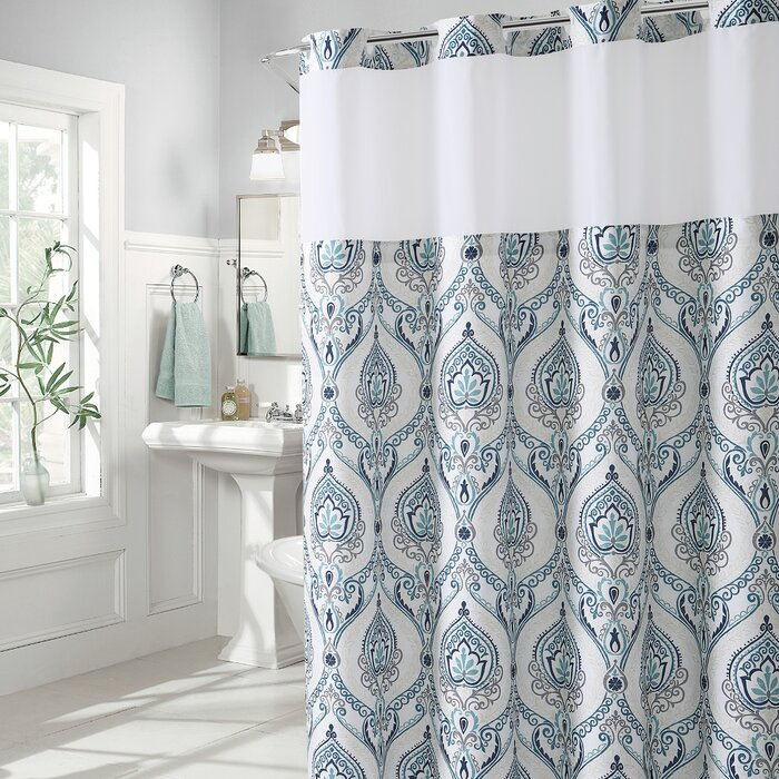 Bungalow Rose Pilsen French Damask Single Shower Curtain