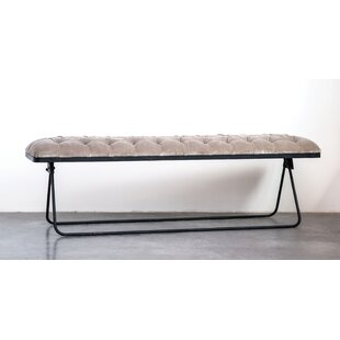 Swanigan Foldable Upholstered Bench