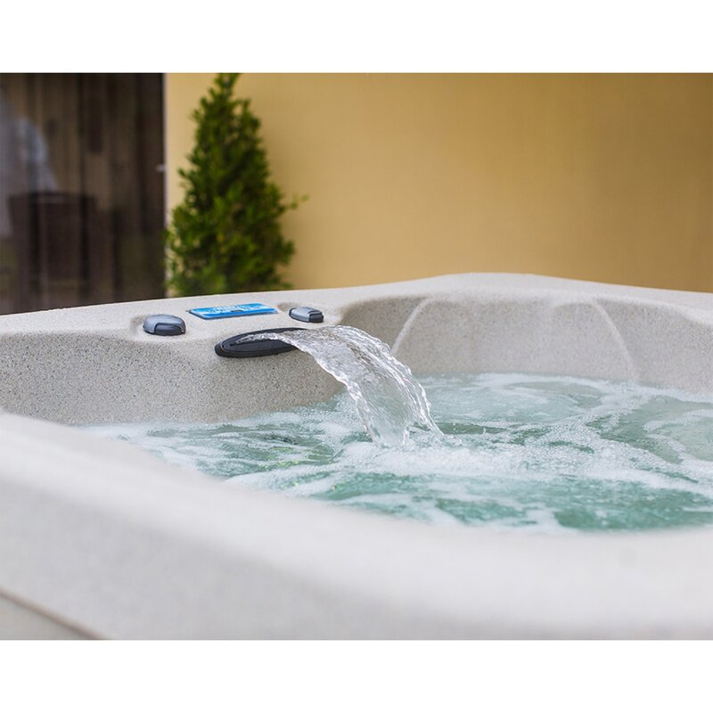 Simplicity DLX 4-Person 20-Jet Plug and Play Hot Tub with Waterfall and  Ozone System