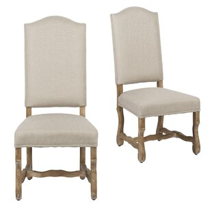 Compare Salvatore Upholstered Dining Chair (Set of 2) by Ophelia & Co. Reviews (2019) & Buyer's Guide