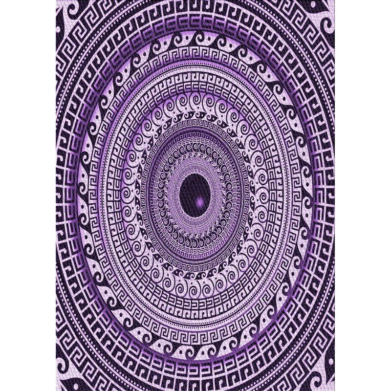 East Urban Home Wool Purple Area Rug Wayfair