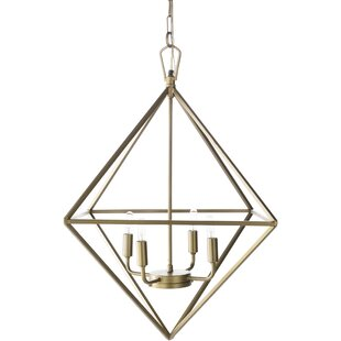 Bleckley 4-Light Geometric Pendant by Ivy Bronx