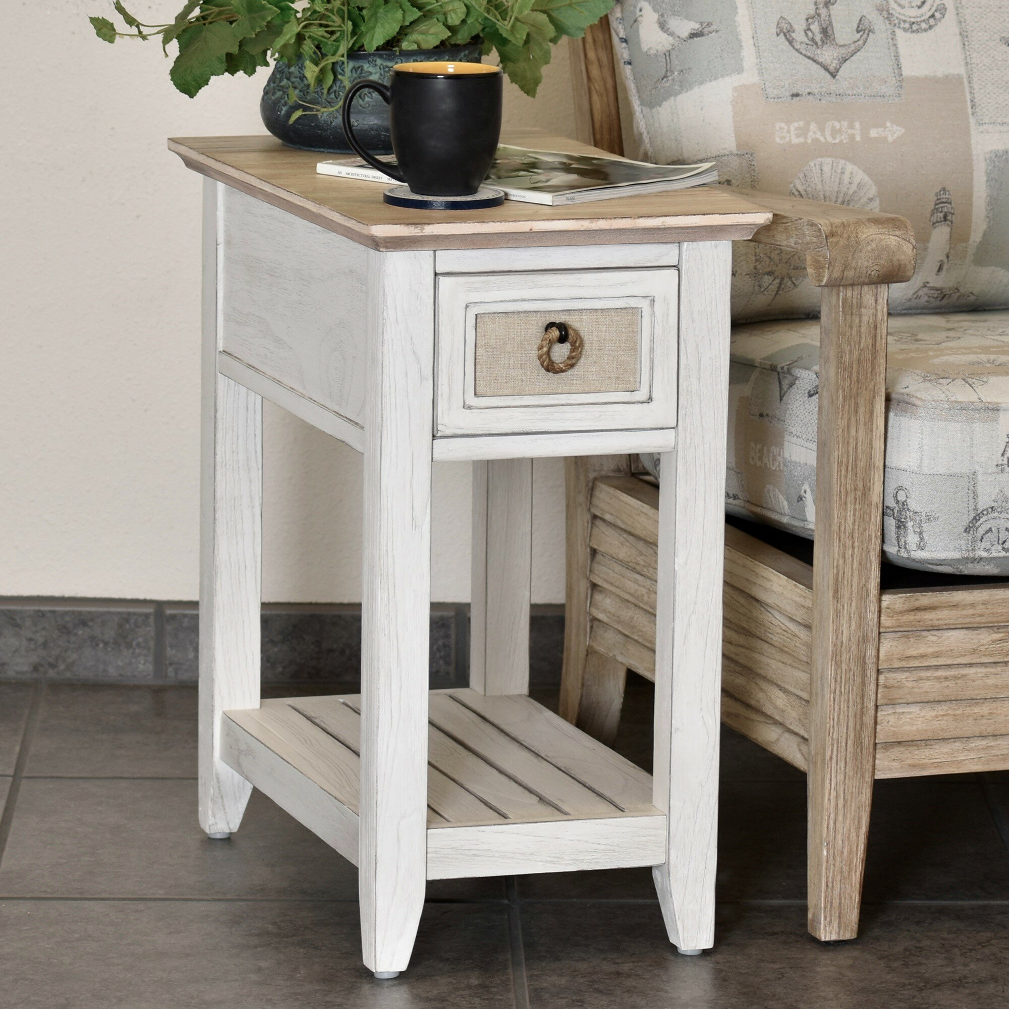 Rosecliff Heights Juliet Island Chairside Table With Storage Wayfair
