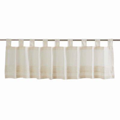 """Adella Window Valance Lark Manor Size: 16"""" H x 90"""" W, Color: White"""