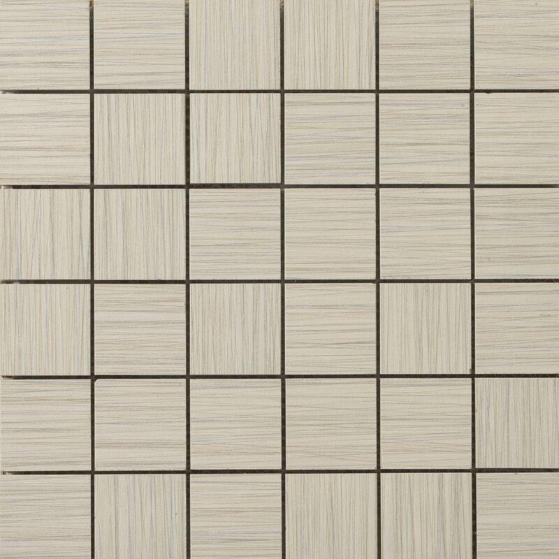 "Strands 2"" x 2/12"" x 12"" Porcelain Mosaic Tile in Oyster"