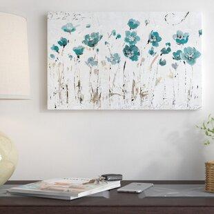 Turquoise Abstract Wall Art Wayfair
