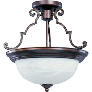 Avis 3-Light Semi-Flush Mount by Alcott Hill