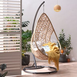 Holborn Indra Rattan Patio Swing Chair With Stand By Bay Isle Home