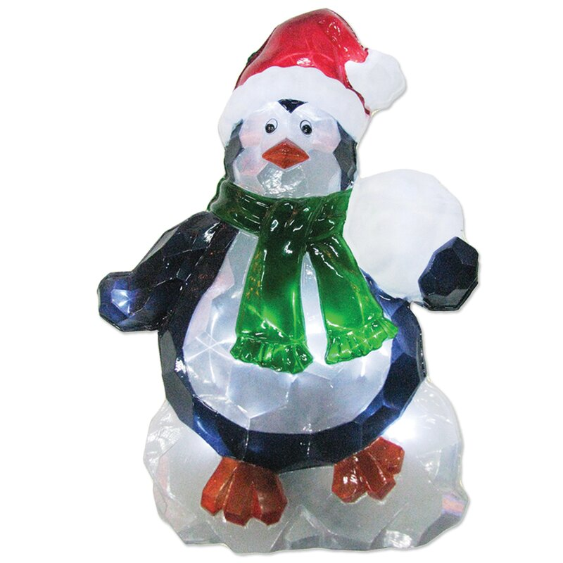 Brite Star LED Icy Penguin Lawn Silhouette Christmas Decoration | Wayfair