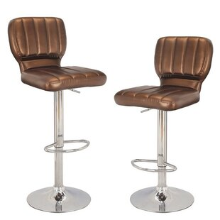 Ebern Designs Harbuck Adjustable Height Swivel Bar Stool (Set of 2)