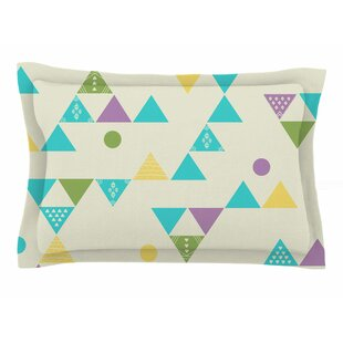Cristina Bianco Design 'Colorful Triangles' Illustration Sham