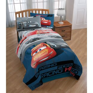 Warner Brothers Disney/Pixar Cars 3 Movie Editorial 4 Piece Microfiber Sheet Set