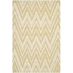 Quinn Hand-Tufted Light Gold/Ivory Area Rug by Safavieh