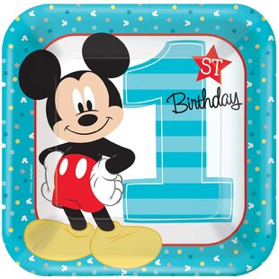 Disney Mickey Mouse 1st Birthday Paper Disposable Dinner Plate by NA 2019 Online