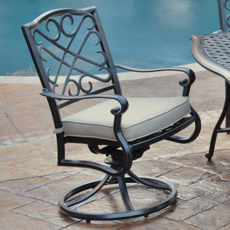 Foremost Harmony Swivel Arm Chair With Cushion | Wayfair